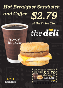 Duchess Hot Breakfas Sand Coupon