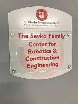 Robotics Door Nameplate Finished
