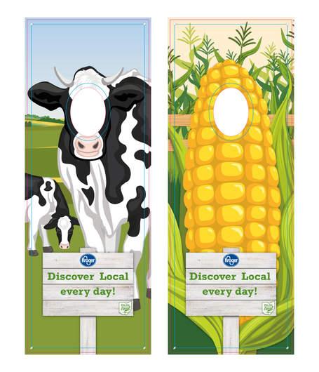 Cow & Corn Face Cut Out