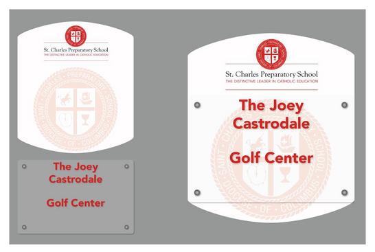 Golf Center Door Nameplate