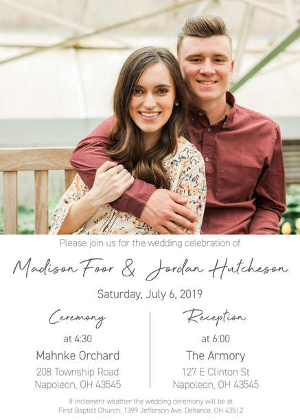 Madison & Jordan Wedding Invite 1