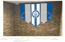 Mock up of Banners hanging on Wall