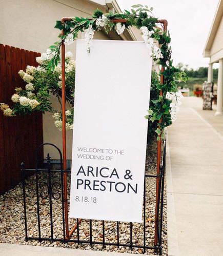 Arica & Preston Wedding Sign