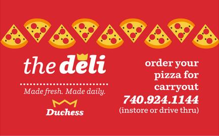Duchess Pizza Magnet