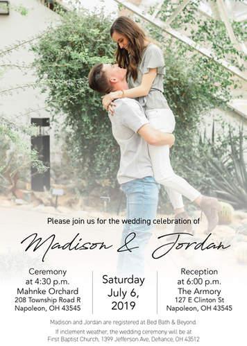 Madison & Jordan Wedding Invite 2