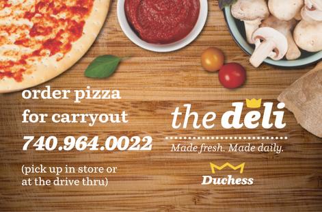 Duchess Deli Pizza Magnet