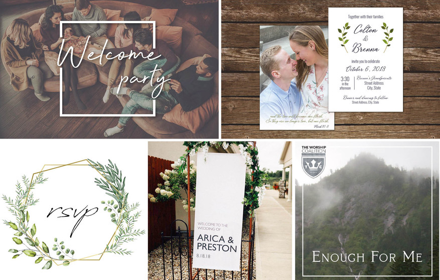 Signs and Invites