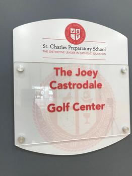 Golf Center Door Nameplate Complete