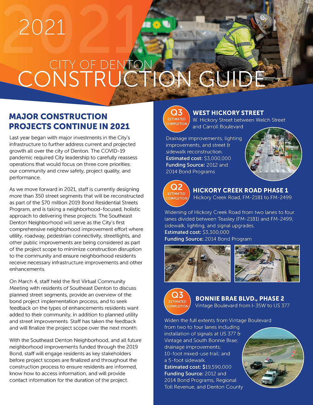 The City of Denton 2021 Construction Guide