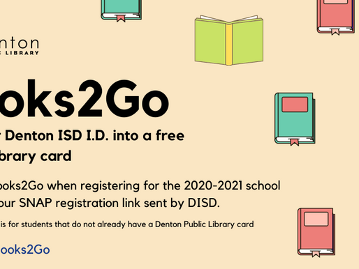 Denton Public Library Gives Free Library Cards to Denton ISD Students