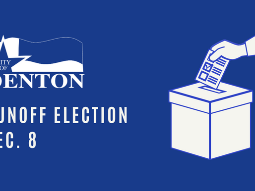 City of Denton Runoff Election Scheduled for Dec. 8