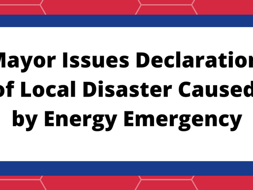 Mayor Issues Declaration of Local Disaster Caused by Energy Emergency