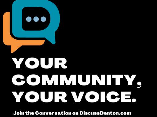 Speak Up on Discuss Denton: City of Denton Launches New Website Dedicated to Community Input