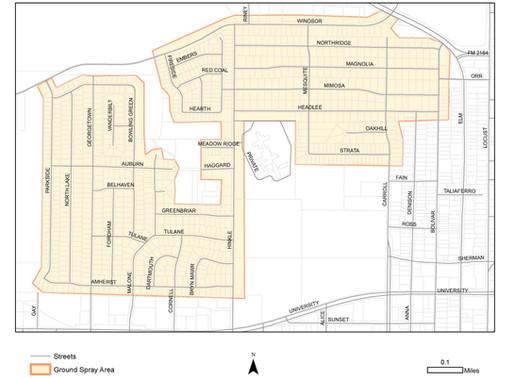 City of Denton to Apply Second Mosquito Ground Spray Sept. 11