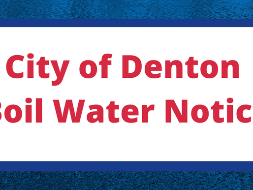 City of Denton Issues Boil Water Notice