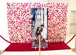 Banner Stand + Flower Backdrop