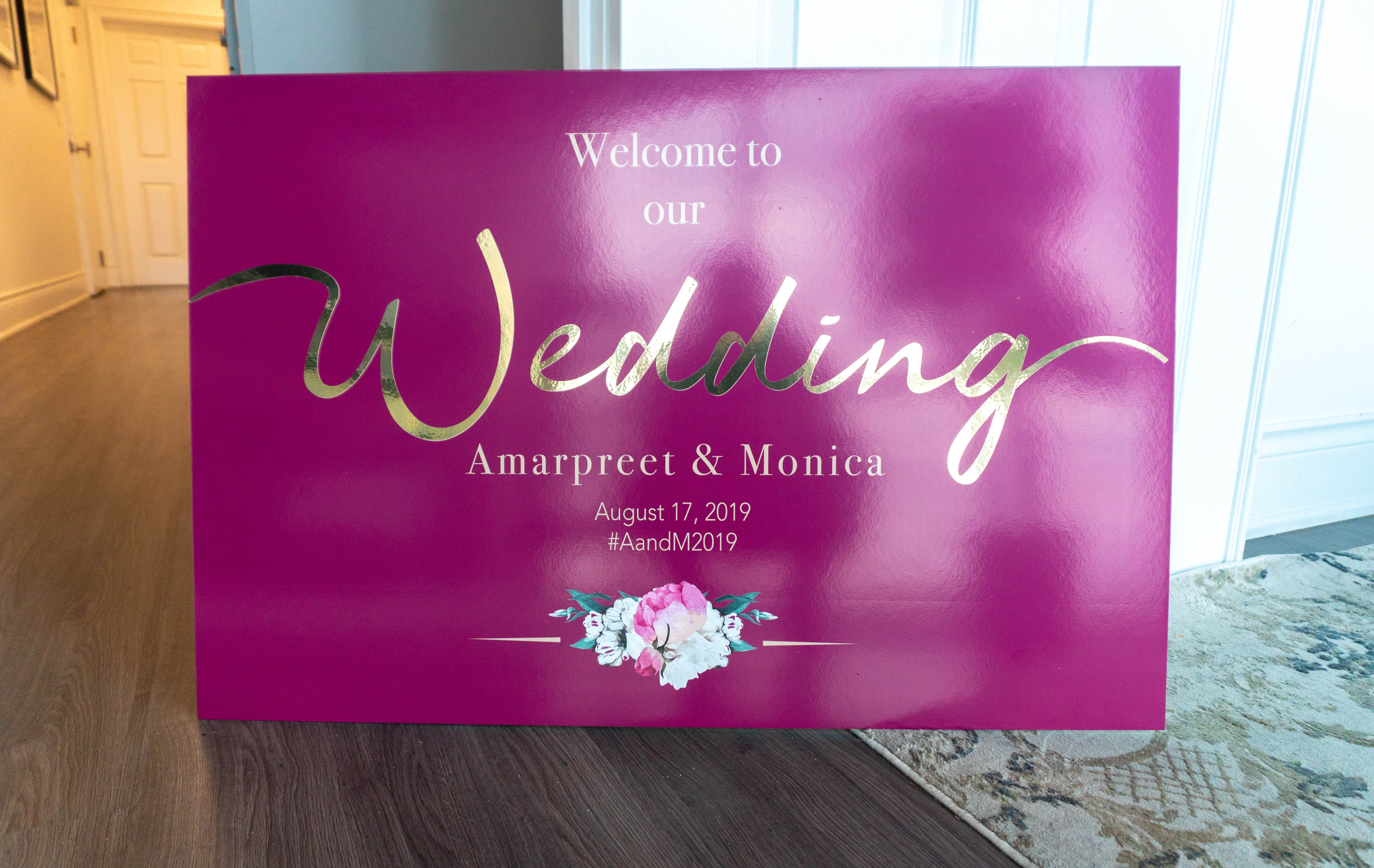 Gold Vinyl - Wedding Signs