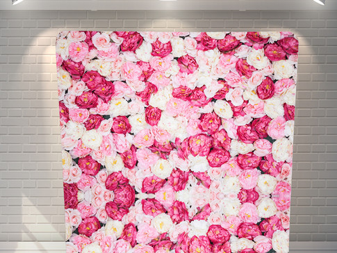 Pink Floral Wall