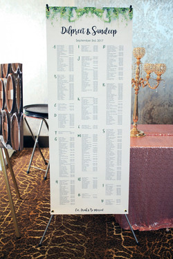 Seating Chart 6x2 ft.