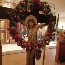 Christ on the Cross on Holy Thursday