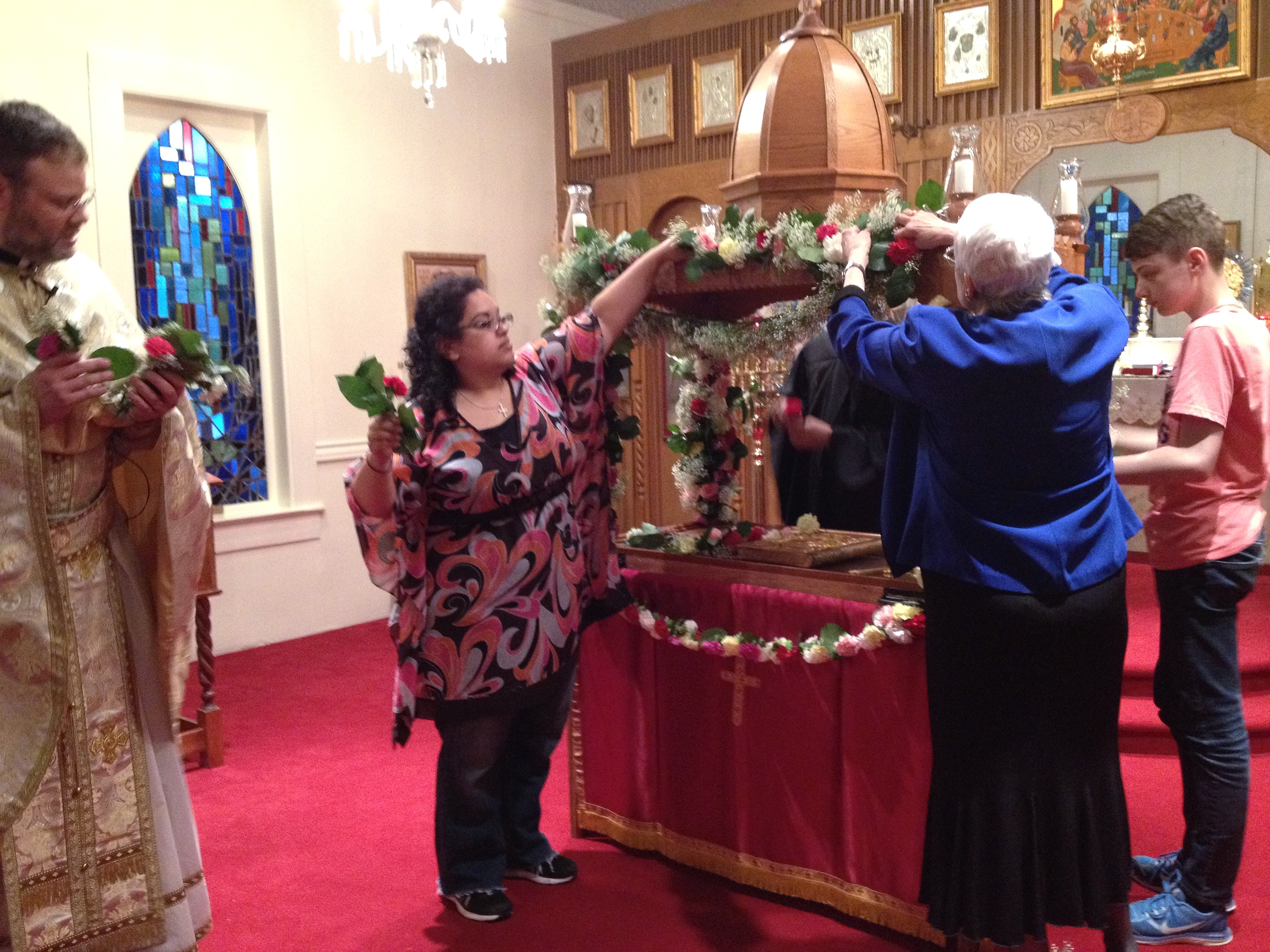 Decorating Christ's Tomb on Holy Friday