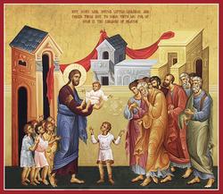 """""""Let the Little Children Come unto Me."""" (Matthew 19:14, Mark 10:14 and Luke 18:16)"""