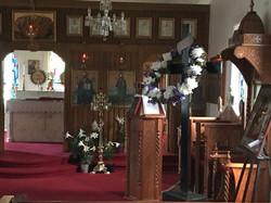 Church Interior at Easter