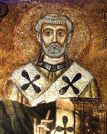Mosaic Icon of Clemens Romanus, 11th C, St Sophia Cathedral in Kie