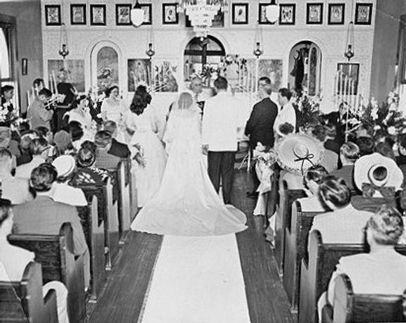 Wedding at Assumption, 1950s