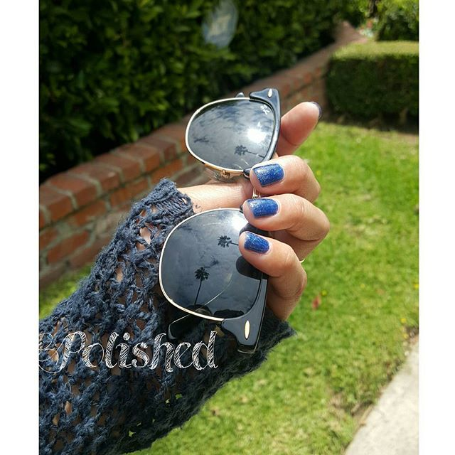 SPARKLY BLUES ❤ _#polishednailsalon #polishedinburbank #polishednails #women #spadays #losangeles #c