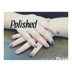 Gray with a little Treble Clef action 😉🎼 #polishedgirls #polishedinburbank #polishednailsalon #pol