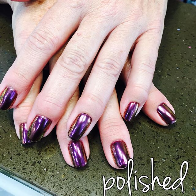 We now carry chrome colors! 🤗#chromenails #polished #opi #trendy #fashion #nailart