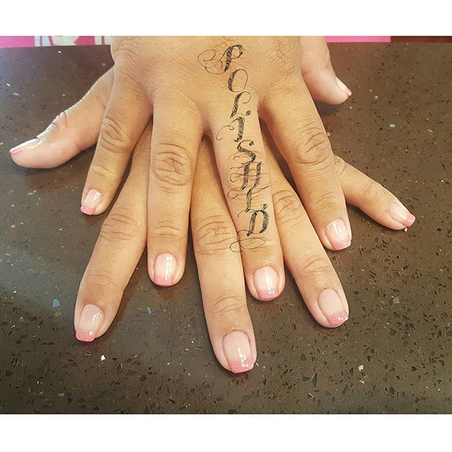 Pink French Gel Manicure ❤ #polishednailsalon #polishedinburbank #polishednails #polishednailsalon #