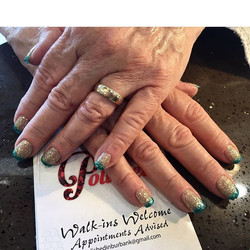 Nails by Nancy #goldnails #polishedinburbank #polishednailsalon #polishedgirls #polishednails #polis