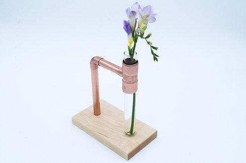 Copper & Maple Flower Vase