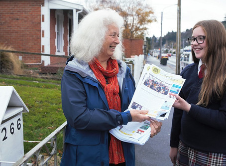 Youngsters take on Valley Voice deliveries
