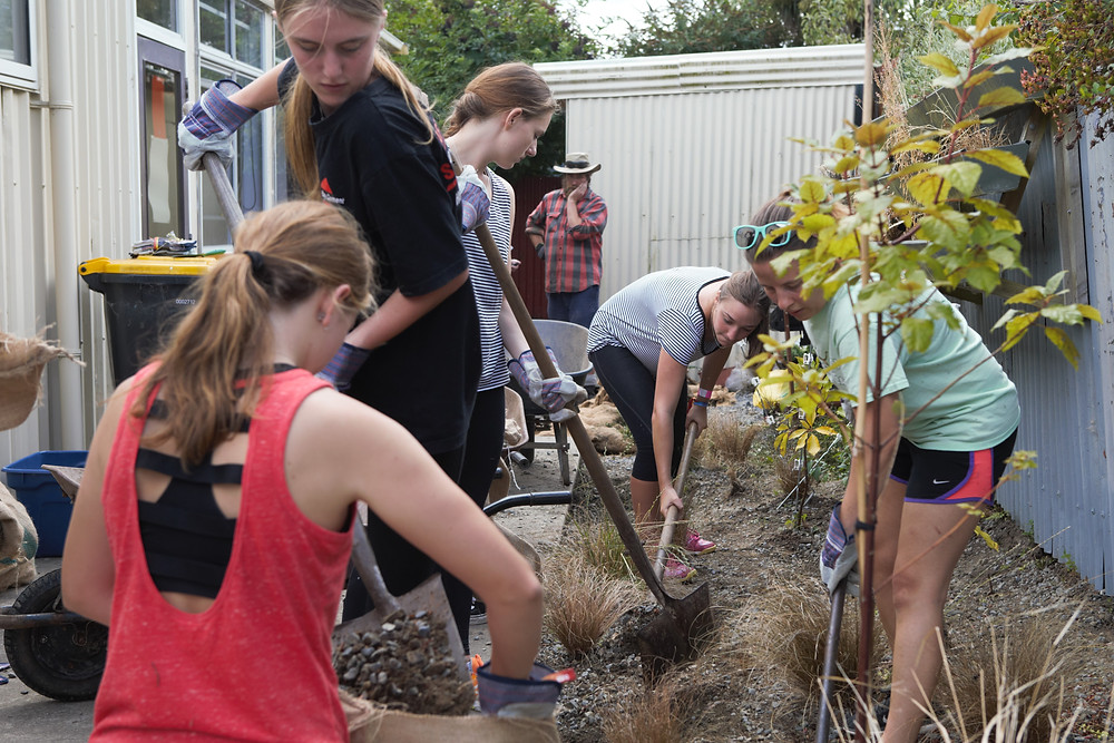 University of Otago students volunteer their time to help out at the community rooms