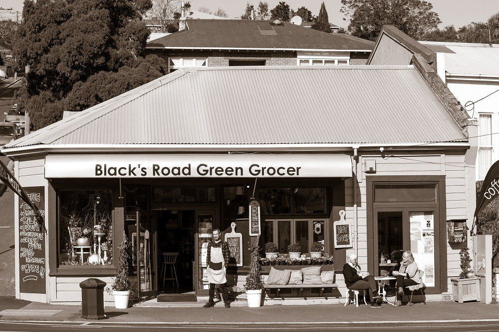 Blacks Road Grocer on the corner of Blacks Rd and North Rd, North East Valley, Dunedin, NZ