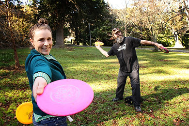Hire discs at the Valley Project for a round of disc golf