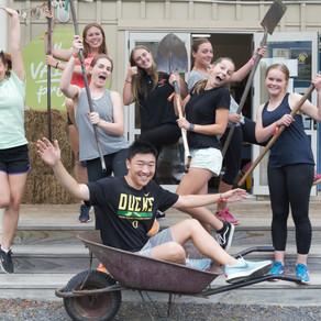 Students volunteers transform garden