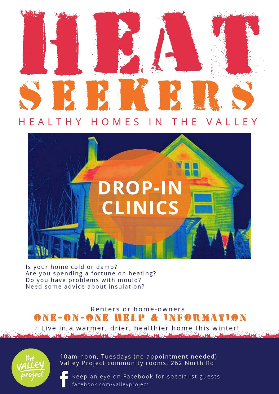 Heat Seekers Healthy Homes in the Valley drop-in clinics at the Valley Project