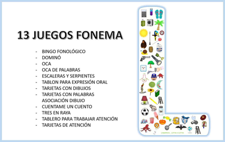 13 Juegos Fonema L Logopedia Letra A Letra Blog De Logopedia