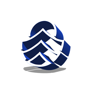 3d ocean logo blue transparent .png