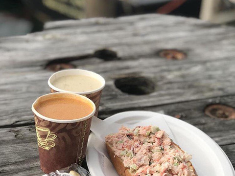 Cold Lobster Roll and a soup.jpg