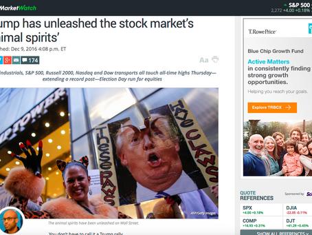 MarketWatch: Trump had unleashed the stock market's 'animal spirits'
