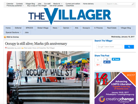 Occupy is still alive; Marks 5th anniversary