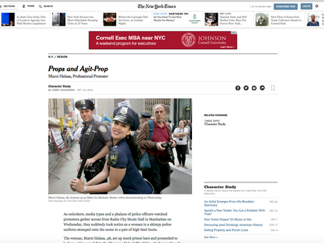 New York Times, featured profile: Props and Agit-Prop