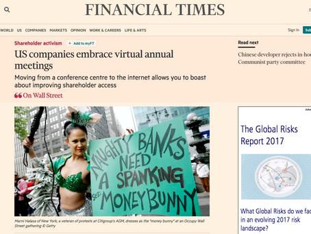 FT: US Companies embrace virtual annual meetings
