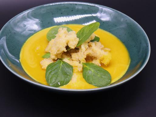 Gebackene Kutteln im Currysud