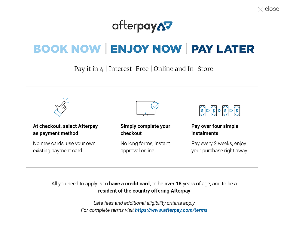 afterpay lightbox web 2 online and in-st